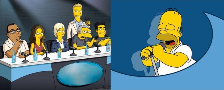 Les Simpson à la télé !