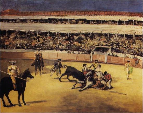 Quel peintre a peint Combat de taureau ?