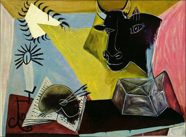 Qui a peint 'Nature morte avec tête de taureau' ?