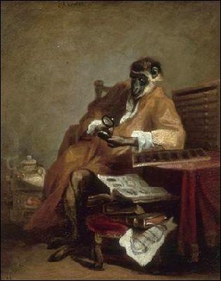 Qui a peint 'Le singe antiquaire' ?