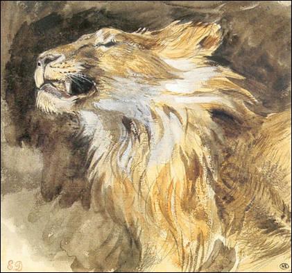 De qui est cette 'Tête de lion rugissant' ?