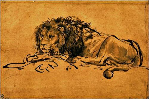 Qui a peint ce magnifique lion ?
