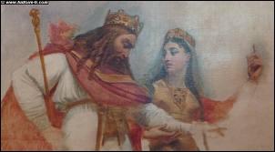 Clovis, roi des Francs, épousa Clotilde en 493. Elle joua un rôle important en l'encourageant à ...