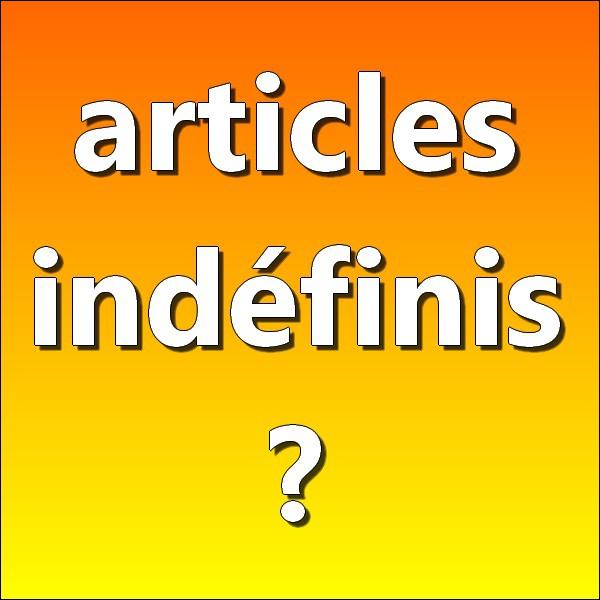 Parmi les déterminants suivants, lesquels sont des articles indéfinis ?
