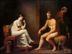 Pour arriver incognito sur son île, Ulysse a pris l'apparence de quel personnage ?