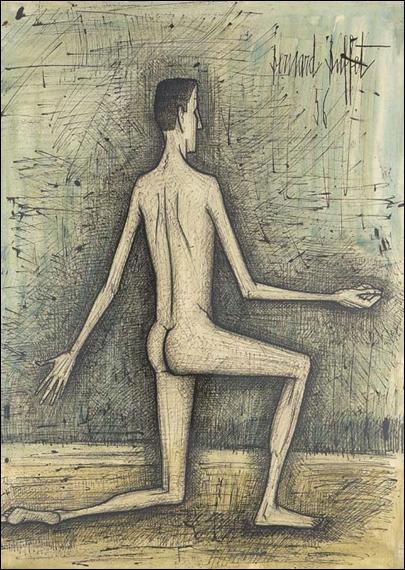 Qui a peint 'Homme nu à genoux' ?