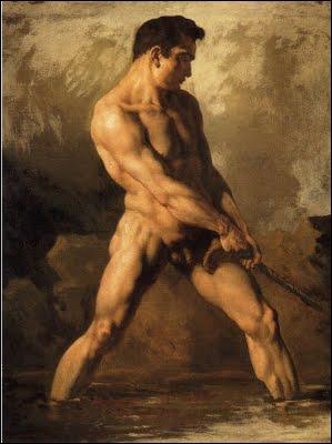 Qui a peint cette 'Académie d'homme' ?