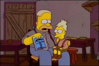 Comment se prénomme le père d'Abraham Simpson ?