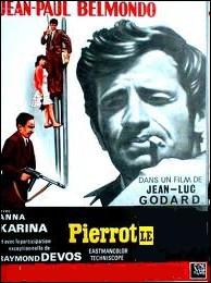 Sur le thème de l'amour et de la mort; un film éclatant, coloré et poétique de Jean-Luc Godard : Pierrot le ... . .