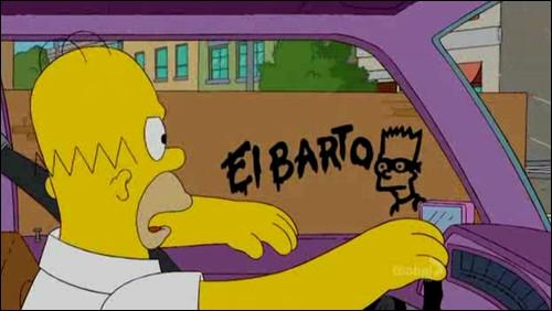 Selon l'affiche de recherche, combien mesurerait El Barto ?