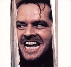 Film de Stanley Kubrick (1980), adapté de Stephen King, où Jack Nicholson perd les pédales dans un hôtel vide et isolé dans le Montana en hiver... . .