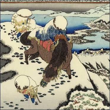 Une belle oeuvre d'Hokusai qui rappelle les images du film ?