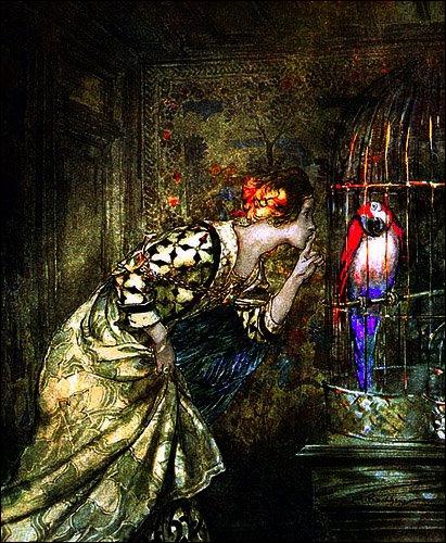 Cette illustration de Rackham fait penser à une scène très drôle du film ?