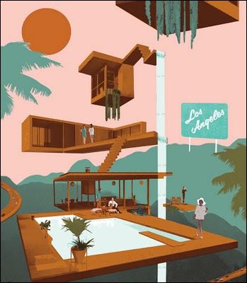 Ce tableau de l'artiste Briony Lloyd est titré Los Angeles, mais semble être parfait pour illustrer le film ?