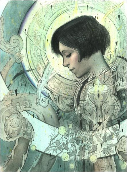 Titré La roue du rêve, et peint par Rod Luff, quel film évoque ce tableau ?