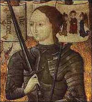 Cette arme fut brisée quelque temps après. Jeanne frappa du plat de son épée sur...
