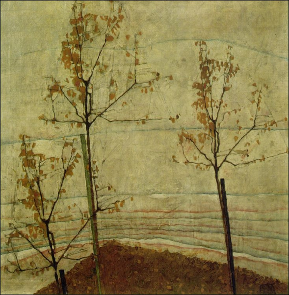 Qui a peint Arbres d'automne ?