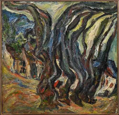 Qui a peint Grands arbres bleus ?