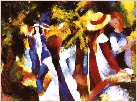 Qui a peint Jeunes filles sous les arbres ?