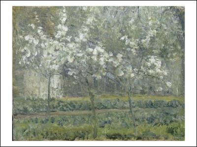 Qui a peint Pruniers en fleurs dans le jardin de Pontoise ?