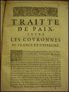 Quel traité de 1659 met fin à la guerre franco-espagnole ?