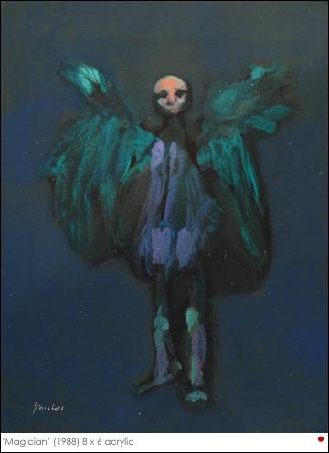 C'est un tableau de Jack Nichols, intitulé Magician. Ne fait-il pas penser à la créature du film... ?
