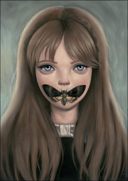 Ce tableau titré Silence, peint par Amy Bagayan, semble fait pour le film... ?