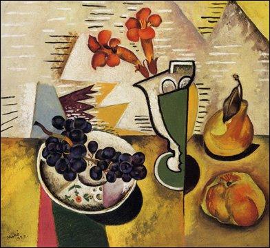 Ce peintre espagnol, proche des surréalistes avec qui il rompt en 1930, a peint cette 'Nature morte aux raisins'