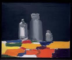 Ami et admirateur de Braque, il évolue de l'abstraction à 'l'involution' il a peint cette 'Nature morte aux bocaux' :
