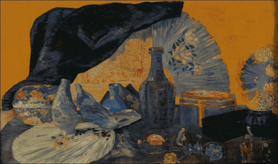 L'un des fondateurs du groupe bruxellois d'avant-garde 'Les Vingt', cet artiste a peint 'Harmonie en bleu' en 1919 :