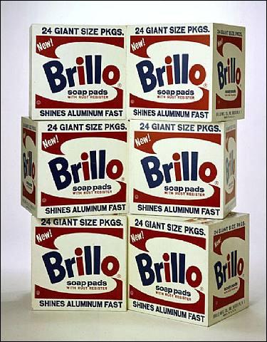 Peintre 'Pop art', il a peint 'Brillo boxes' :