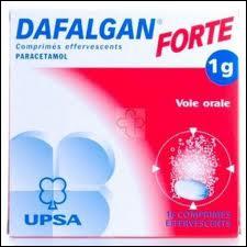 Quelles sont les principales indications du Dafalgan ?
