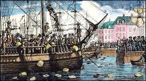Les manifestations des colons contre l'autorité de Londres sont sévèrement réprimées par l'armée britannique. Dans quelle ville portuaire a lieu la première insurrection qui vise les navires de la compagnie des Indes (1773) ?