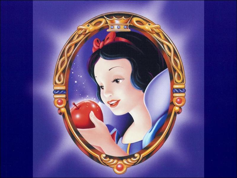 Qui est cette princesse qui mange une belle pomme empoisonnée ?