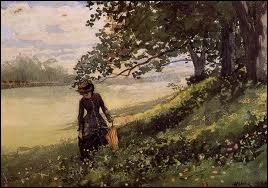 Quel peintre américain est l'auteur de la toile 'Jeune femme à l'ombrelle' ?