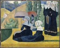 Qui a peint 'Les bretonnes aux ombrelles' ?