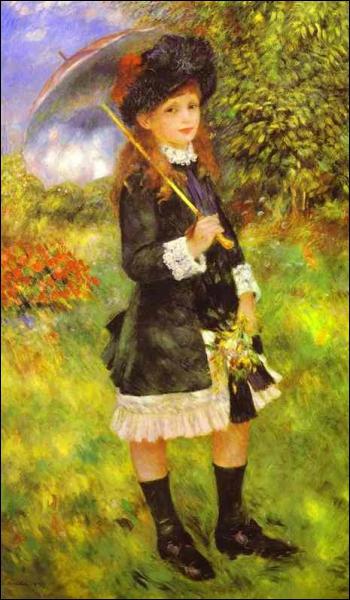 Qui a peint 'Jeune fille à l'ombrelle' ?