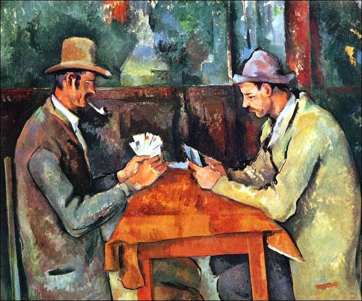"""Quel artiste a peint """"Les joueurs de cartes"""" ?"""