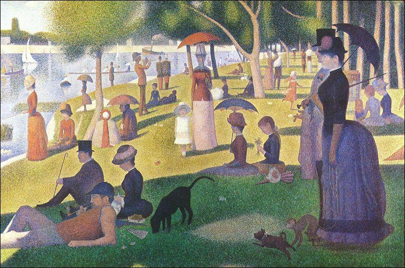 """Quel artiste a peint """"Un dimanche après-midi sur l'île de la Grande Jatte"""" ?"""