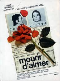 ''Mourir d'aimer'' racontait une histoire d'amour tragique entre une professeure et un de ses élèves. Qui a chanté une chanson ayant le même titre ?