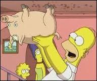 Dans 'les Simpson le film', quels sont les deux prénoms que lui a donné Homer ?