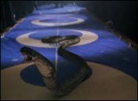 Avec quel sortilège Drago Malefoy fait-il apparaître ce serpent ?