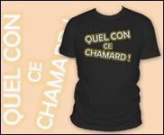 Quel garçon a un collègue de bureau qui s'appelle Chamard et avec qui il se ' fritte ' souvent ?