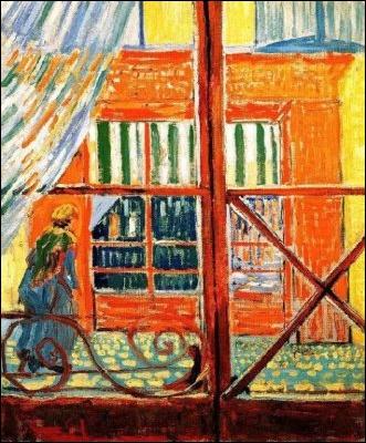 Qui a peint Boutique vue d'une fenêtre ?