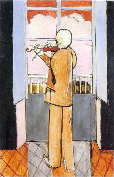 Qui a peint Le violoniste à la fenêtre ?