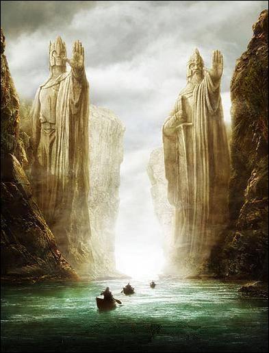 Après leur fuite par le pont de Khazad-dûm et leur passage en Lothlórien, sur quel fleuve le reste de la communauté navigue-t-il avant sa dissolution ?