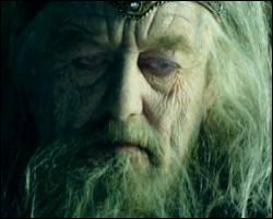 Quelle est la toute dernière réplique de Gandalf le blanc avant qu'il ne libère Theoden de l'envoûtement de Saroumane (excepté le 'Partez' ) ?