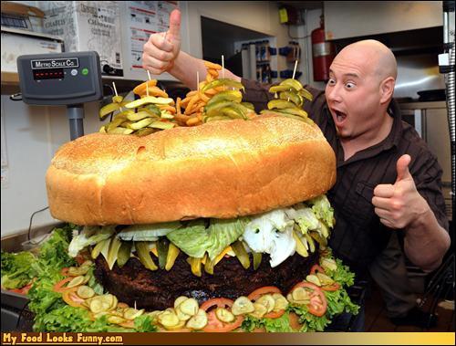 Qu'est-il arrivé avec ce hamburger après sa parution dans le livre Guiness des records ?