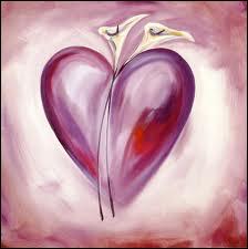 Au sommet de ce coeur, des callas, dans ce tableau de ?
