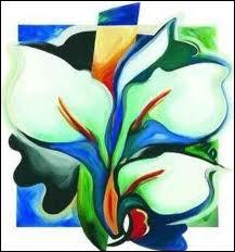 Un bouquet de callas sur fond coloré pour un tableau de ?